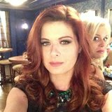 "Debra Messing had a laugh a when her Smash costar Megan Hilty photo-bombed her snap, calling it ""creepy"" and ""sneaky."" Source: Instagram user therealdebramessing"