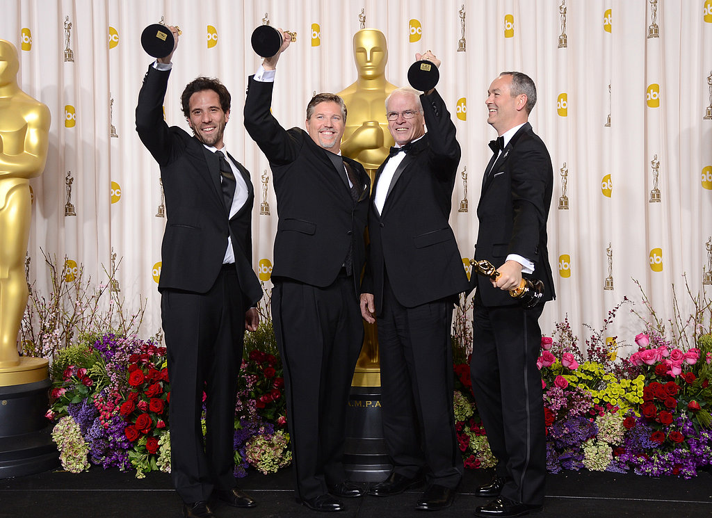 Guillaume Rocheron, Bill Westenhofer, Donald R. Elliott, and Erik-Jan De Boer won best visual effects for their work in Life of Pi.