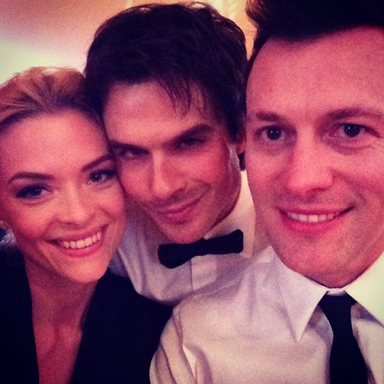 Hart of Dixie's Jaime King posed with her husband, Kyle Newman, and The Vampire Diaries star Ian Somerhalder.  Source: Instagram user jaime_king