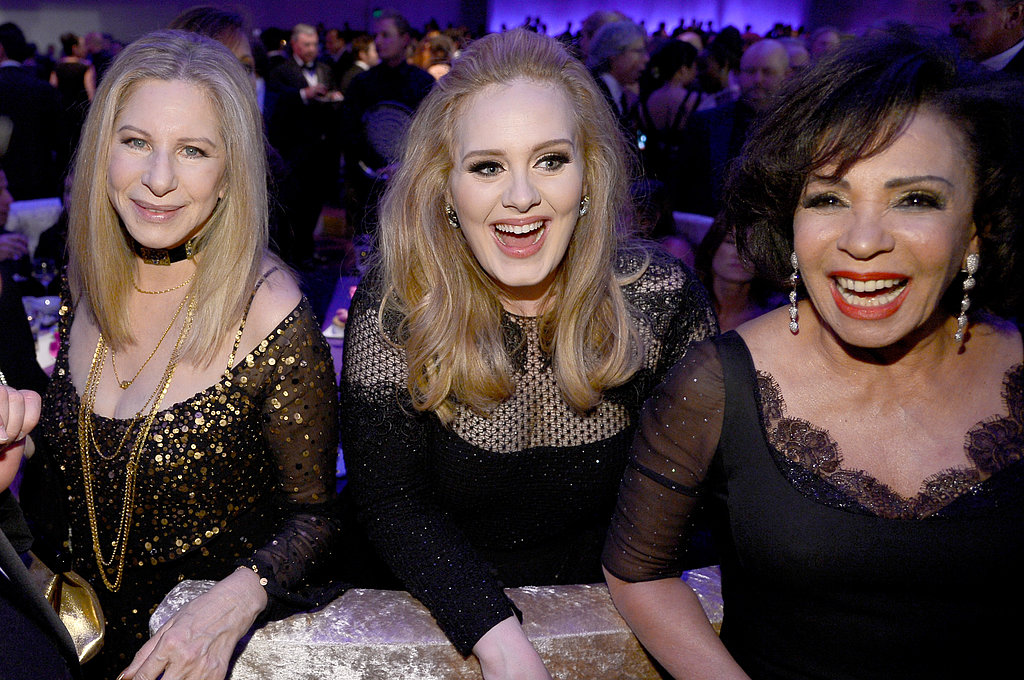 Barbra Streisand, Adele and Shirley Bassey hung out at the Governors Ball after the Oscars.