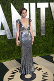 Minnie Driver arrived at the Vanity Fair Oscar party.