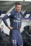 David Beckham had his first start with his new team, Saint-Germain.