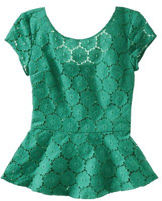 Xhilaration Juniors Peplum Lace Top - Assorted Colors