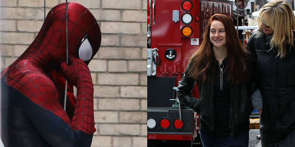First Look at Shailene Woodley as Mary Jane, Plus Andrew Garfield Back on Set as Spider-Man