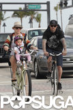 Pink and Carey Hart took their daughter, Willow, for a bike ride in Miami in February.