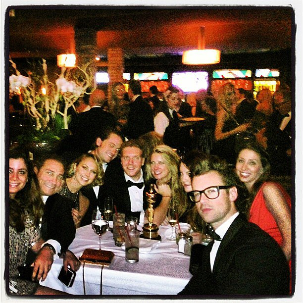 Stacy Keibler partied with friends — including Brad Goreski — after the Oscars. Source: Instagram user stacykeibler