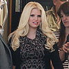 Pregnant Jessica Simpson, Eric Johnson &amp; Maxwell On Set
