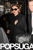 Miranda Kerr wore an all-black outfit.