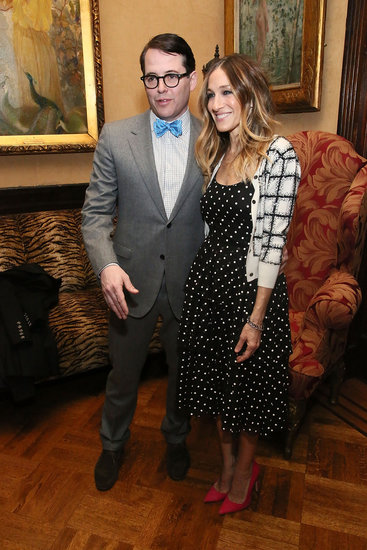 Sarah Jessica Parker smiled with husband Matthew Broderick at the Love N' Courage event in NYC.