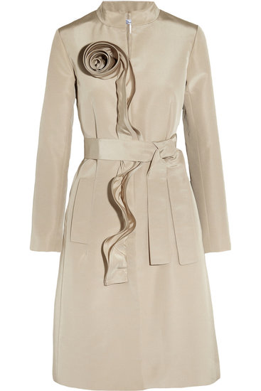 Oscar de la Renta for The Outnet ruffle-trim sateen coat ($895)