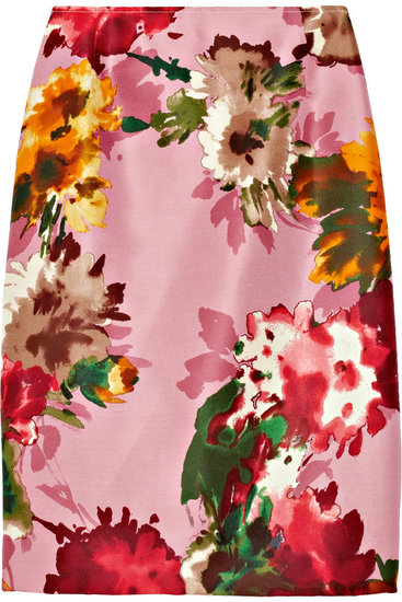 Oscar de la Renta for The Outnet floral pencil skirt ($450)