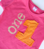Cantaloupe Corner Little Girls Appliqué Shirt
