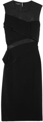 Narciso Rodriguez Tiered stretch wool-twill dress