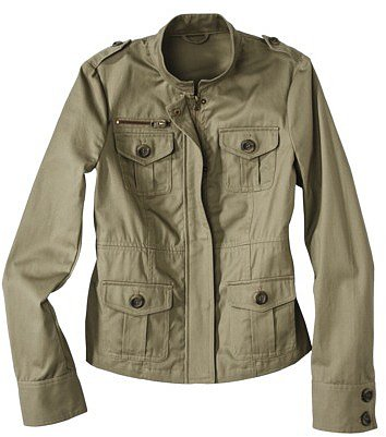 Coffee Shop Junior&#039;s Military Jacket -Olive