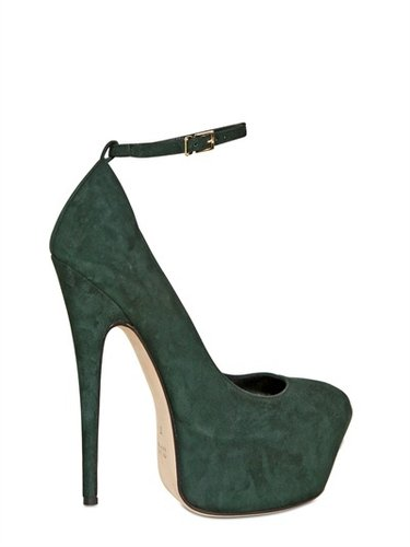 160mm Suede Pumps