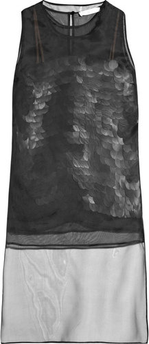 Stella McCartney Paillette silk-organza top
