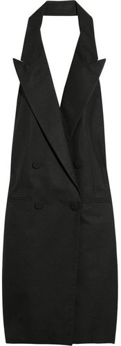 Stella McCartney Backless silk-broadcloth tuxedo dress