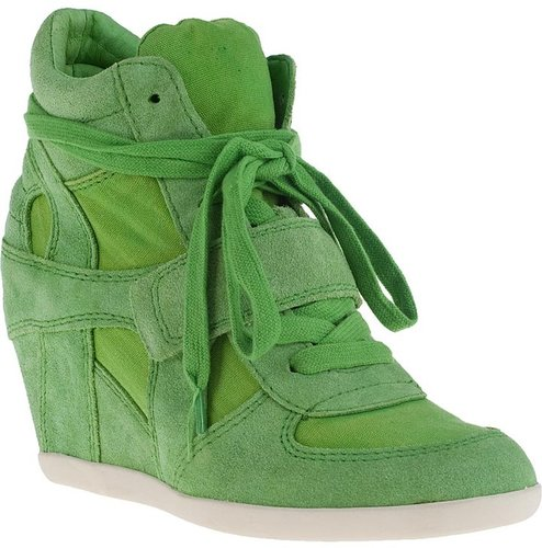 ASH Bowie Wedge Sneaker Apple Suede