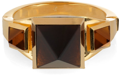 Alexander McQueen Embellished gold-plated brass cuff