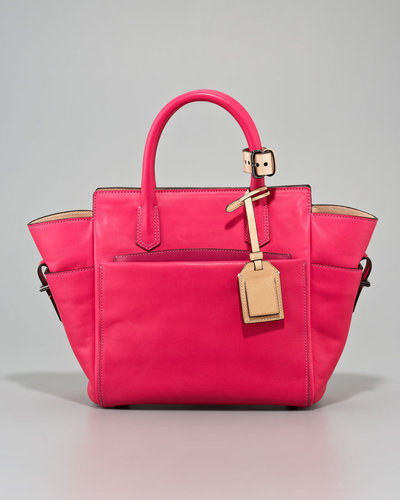 Reed Krakoff Mini Atlantique Tote Bag, Solar or Acid Pink