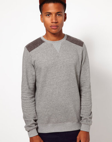 ASOS Sweatshirt With Contrast Elbow Patches