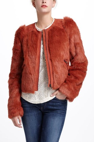 Burnt Sienna Shag Jacket