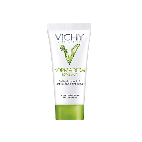 Leave it to the French to come up with a primer that cools on contact, soaks up oil, and fights acne. Vichy Normaderm Total Mat Anti-Shine Mattifier ($25) does all that and leaves a fresh cucumber scent behind, making this the ultimate primer.
