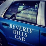 What? It's Beverly Hills, everyone takes cabs. Source:
