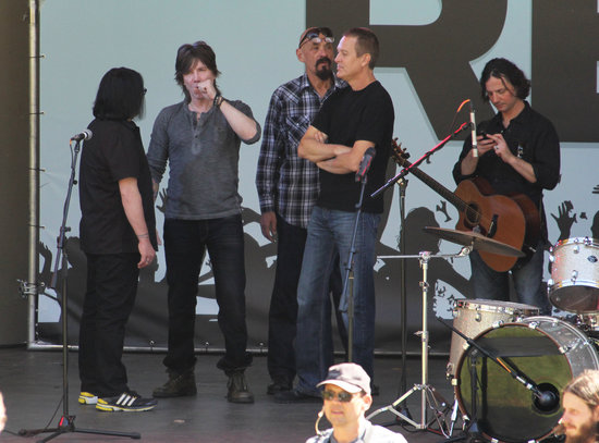 The Goo Goo Dolls shot a scene for 90210 in LA on Wednesday.