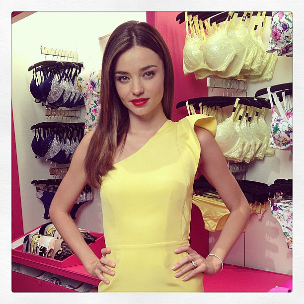 Miranda Kerr looked sweet and Spring-ready at the launch of Victoria's Secret's new Fabulous collection. Source: Instagram user mirandakerrverified