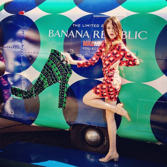 Coco Rocha looked adorable while posing at Banana Republic's event for its latest Mad Men-inspired capsule collection. Source: Instagram user cocorocha