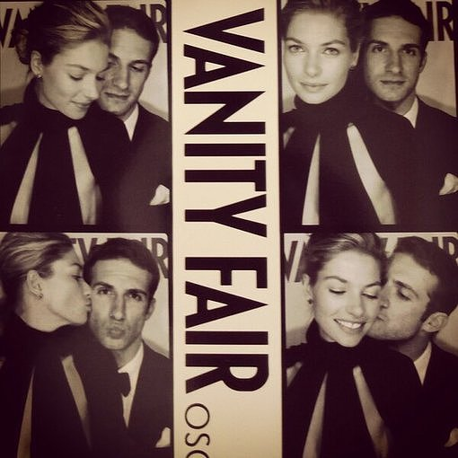 Jessica Hart shared her Vanity Fair party photo-booth pictures. Source: Twitter user 1JessicaHart