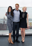 Mila Kunis and Michelle Williams posed alongside Oz the Great and Powerful co-star James Franco at the Moscow photocall. Mila paired a gray ruffle Givenchy dress with leopard Christian Louboutin pumps, while Michelle matched a collared Victoria Beckham dress with star-embellished pumps.