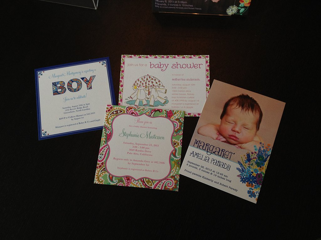 Personalized invitations and birth announcements from Tiny Prints.