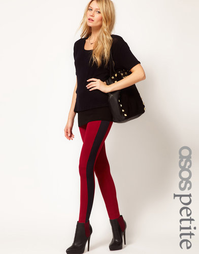 ASOS PETITE Exclusive Disco Pants in High Shine with Contrast Panels