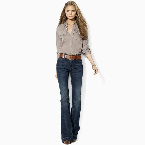 Ralph Lauren Blue Label High-Rise Flared Stretch Jean