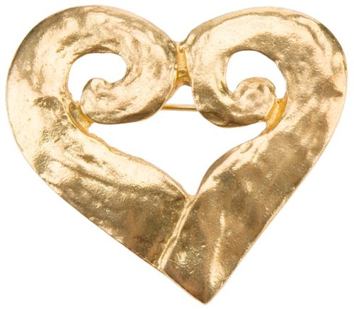 Yves Saint Laurent Vintage heart brooch