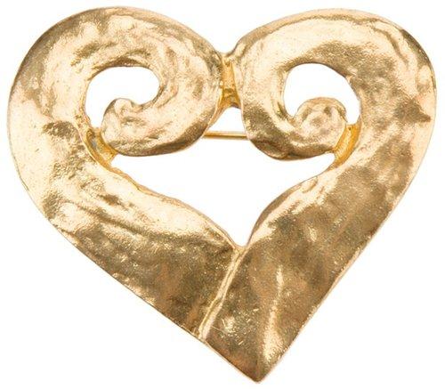 Yves Saint Laurent Vintage heart brooch