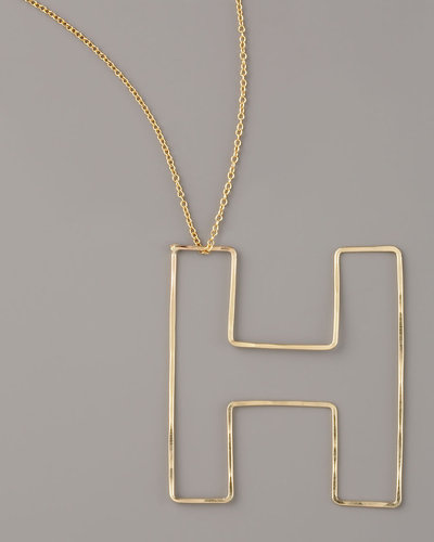 GaugeNYC Letter-Pendant Necklace, H