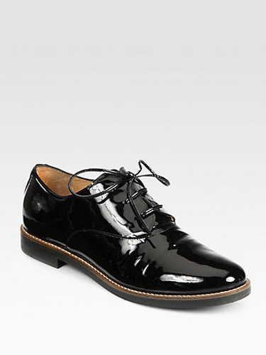 Maison Martin Margiela MM6 Patent Leather Lace-Up Oxfords