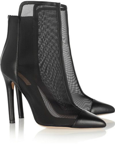 Reed Krakoff Leather and mesh ankle boots