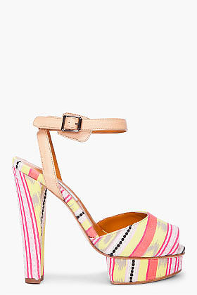 CARVEN Multicolor Striped Jacquard Pumps