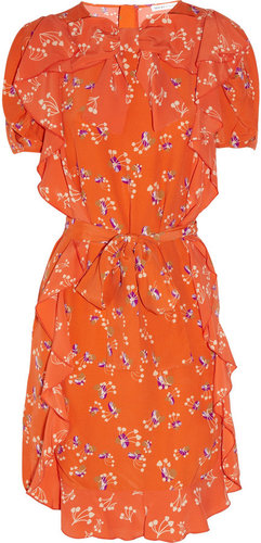 See by Chloé Printed ruffled crepe dress