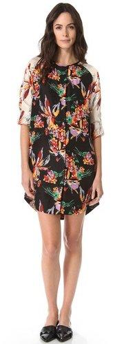 10 crosby derek lam Floral Tunic Dress
