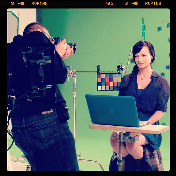 Ashley Rickards got to work on the set of Awkward. Source: Instagram user mtv