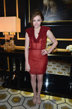 Chloë Moretz wore red to the H&M fashion show in February in Paris.