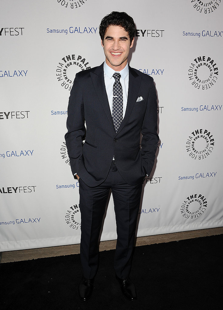 Darren Criss suited up for the event.