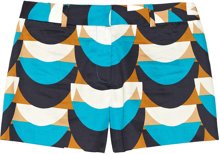 Going on a weekend beach trip? Don't forget to pack these pretty Milly Dickies Printed Cotton Shorts ($175) to wear over your bikini.