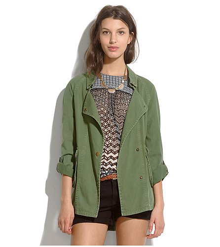 Every girl needs a green utilitarian jacket in her Spring arsenal. This Elizabeth and James Kelsey parka ($295) will pair effortlessly with all of your off-duty looks.