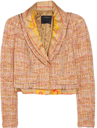 CLASS Roberto Cavalli Cropped boucl jacket